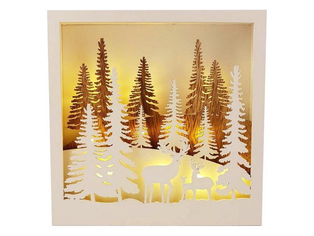 Светящееся украшение Peha Magic Новогодняя декорация Олени в лесу PT-96615