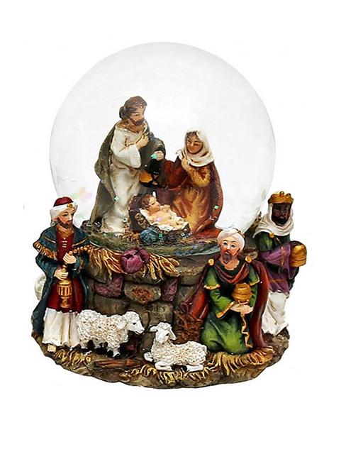 Снежный шар Sigro Святое семейство Волхвы 50-1070