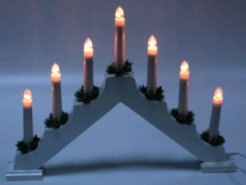 Светящееся украшение SnowHouse Рождественские свечи 7 свечей BIE1407
