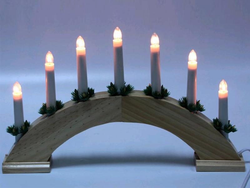 Светящееся украшение SnowHouse Рождественские свечи 7 свечей BIE1507