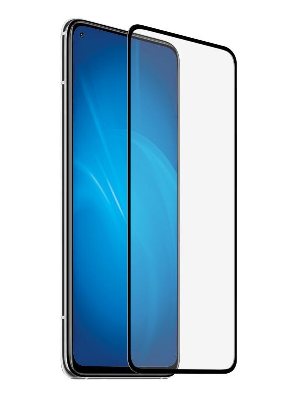 Закаленное стекло DF для Xiaomi Mi 10T / Pro Full Screen Glue Black Frame xiColor-82