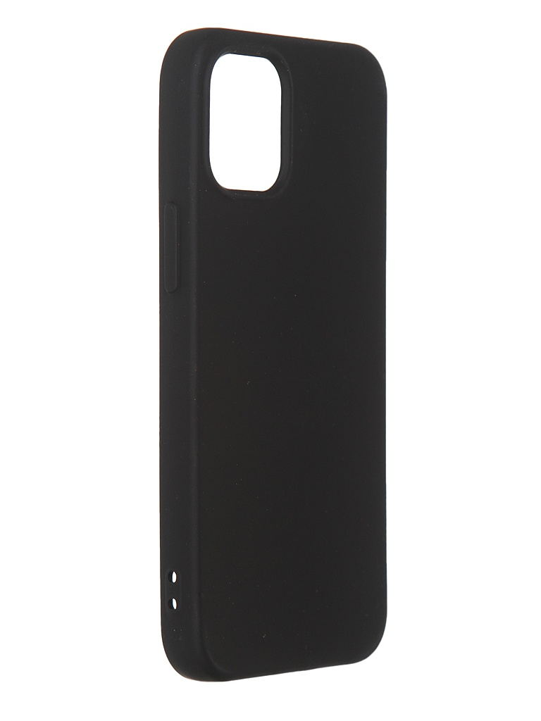 Чехол DF для iPhone 12 mini с микрофиброй Silicone Black iOriginal-04