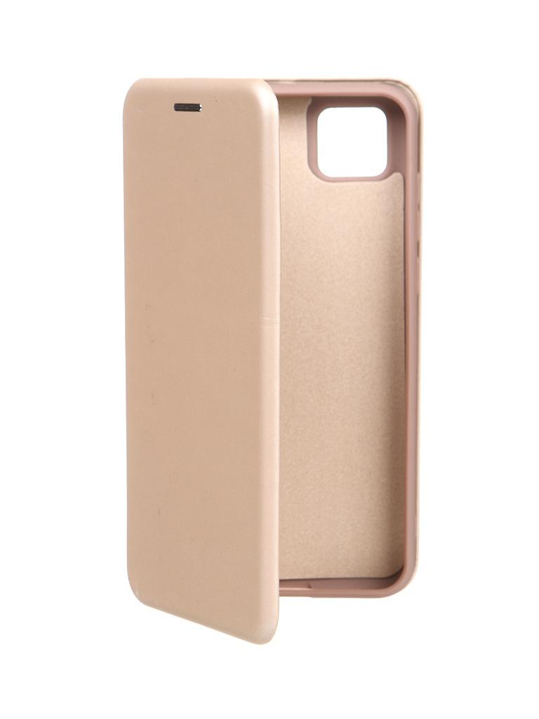 Чехол Krutoff для Honor 9S / Huawei Y5p Soft Book Gold 10509