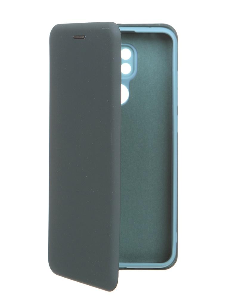 Чехол Krutoff для Xiaomi Redmi Note 9 Soft Book Green Opal 10581