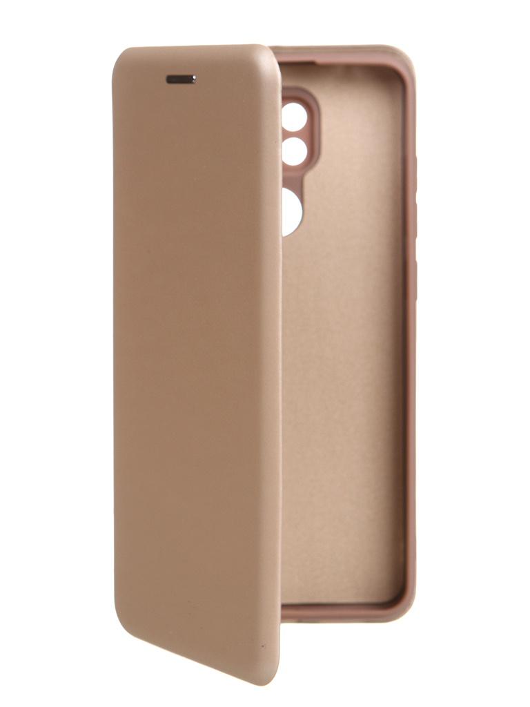 Чехол Krutoff для Xiaomi Redmi Note 9 Soft Book Gold 10561