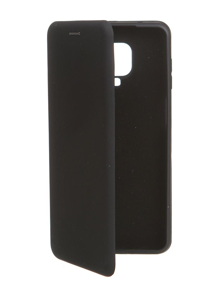 Чехол Krutoff для Xiaomi Redmi Note 9 Pro / 9S Soft Book Black 10560