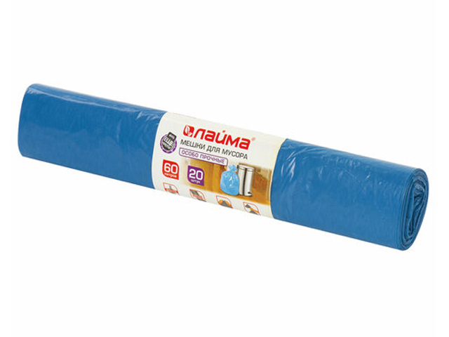 Пакет Лайма 60L 20шт Blue 601382