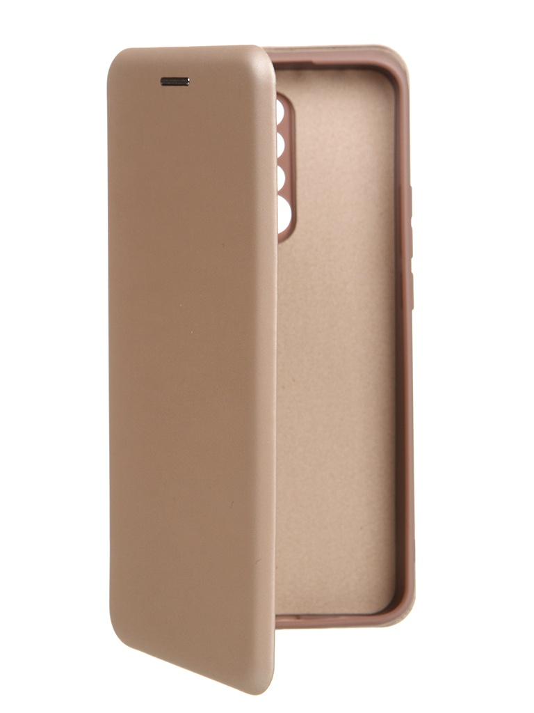 Чехол Krutoff для Xiaomi Redmi 9 Soft Book Gold 10549