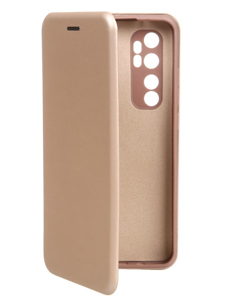 Чехол Krutoff для Xiaomi Mi Note 10 Lite Soft Book Gold 10547
