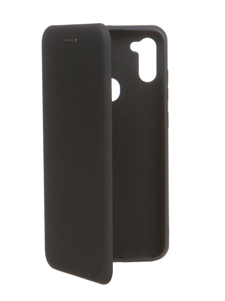 Чехол Krutoff для Samsung M11 / A11 Soft Book Black 10579