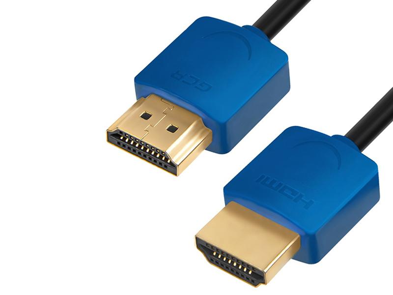 Аксессуар Greenconnect Slim HDMI 2.0 2m Blue GCR-51589