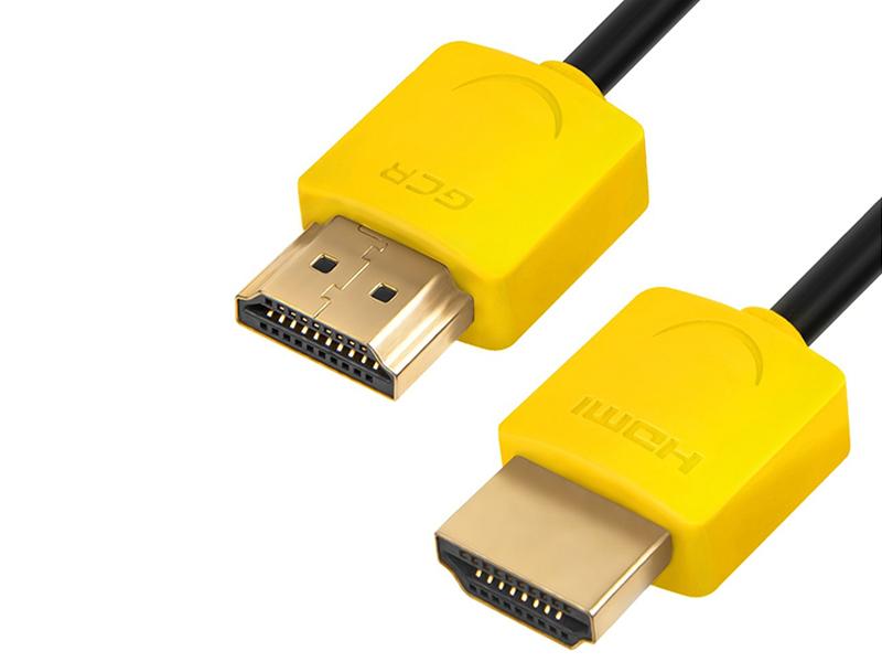 Аксессуар Greenconnect Slim HDMI 2.0 30cm Yellow GCR-51573