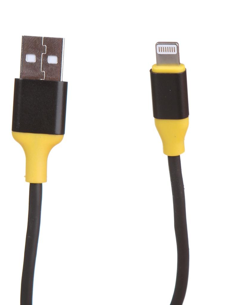 Аксессуар Greenconnect New Lightning 1m Black-Yellow GCR-52263