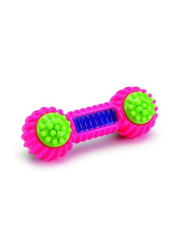 Игрушка для собак Beeztees Гантель TPR 15cm Pink 625823/38112.