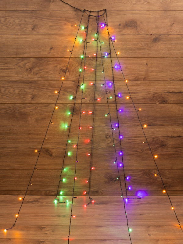 Гирлянда Neon-Night 7 нитей по 1,5m Multicolor 235-079