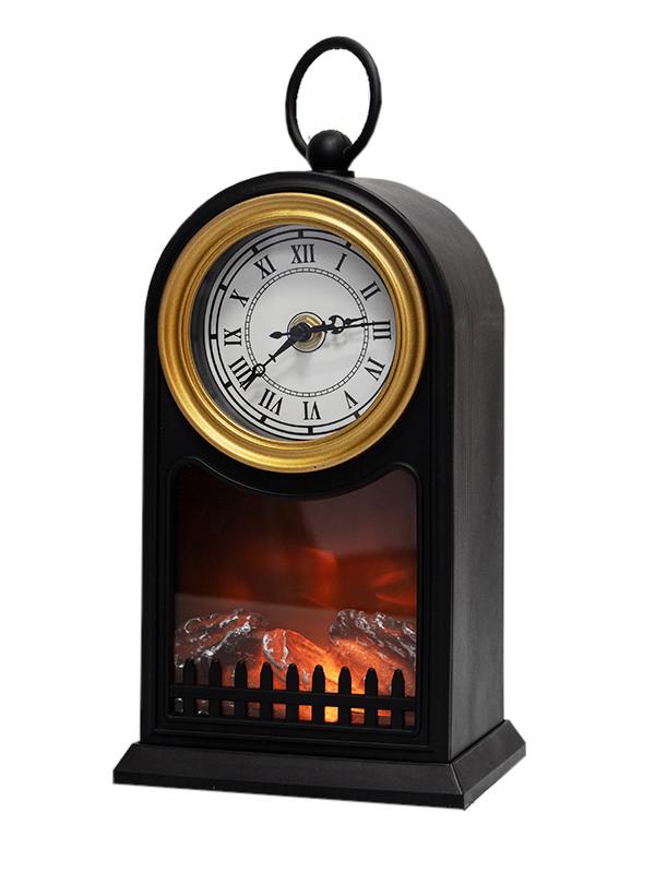 Часы Neon-Night Светодиодный камин Старинные часы 14.7x11.7x25cm 511-020
