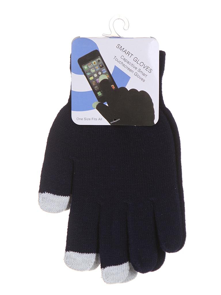 Теплые перчатки для сенсорных дисплеев Red Line р.M/L Blue / Grey Finger УТ000014061