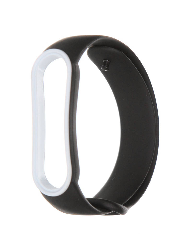 Aксессуар Ремешок Red Line для Xiaomi Mi Band 5 Black-White Edging УТ000023080