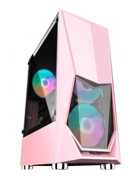 Корпус 1stPlayer DK-3 ATX Tempered Glass Pink DK-3-PK-3G6