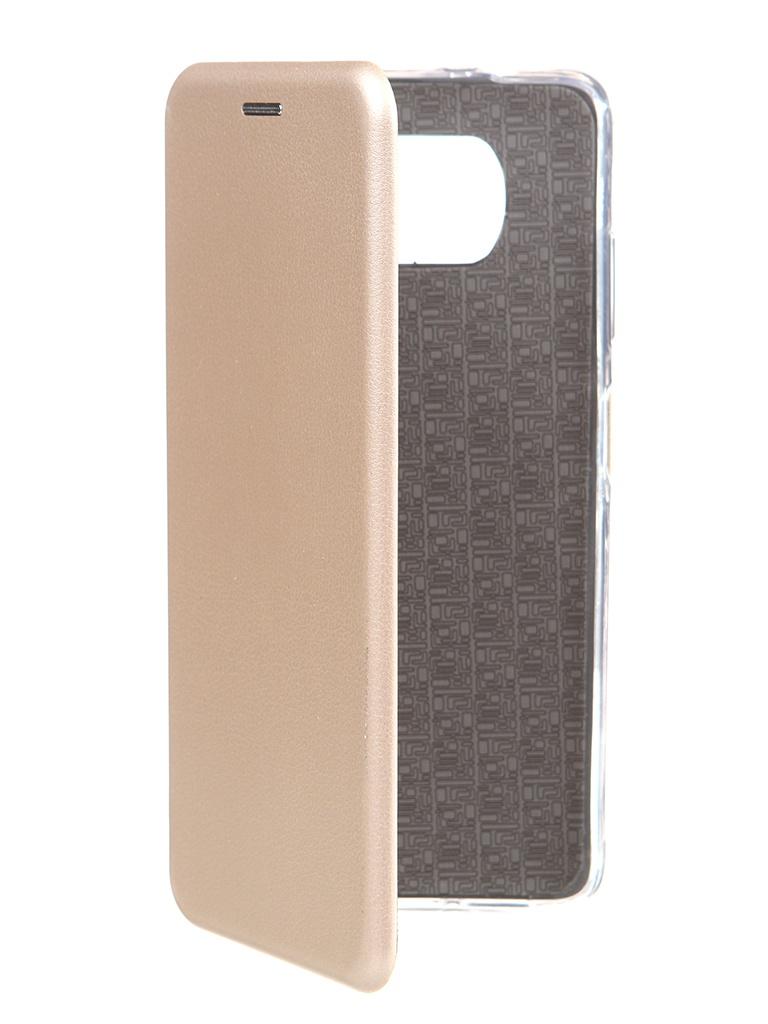 Чехол Zibelino для Xiaomi Poco X3 Book Gold ZB-XIA-X3-GLD