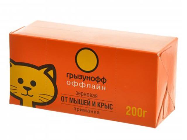 Средство защиты Грызунофф оффлайн Зерновая приманка 200g GR10360051 средство защиты грызунофф оффлайн зерновая приманка 200g gr10360031