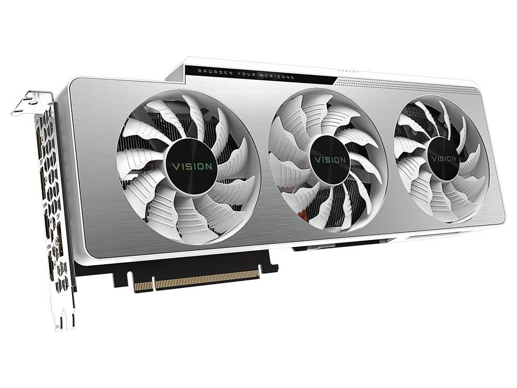Видеокарта Gigabyte GeForce RTX 3080 Vision OC 10G 1800Mhz PCI-E 4.0 10240Mb 19000Mhz 320-bit 2xHDMI 3xDP HDCP GV-N3080VISION OC-10GD