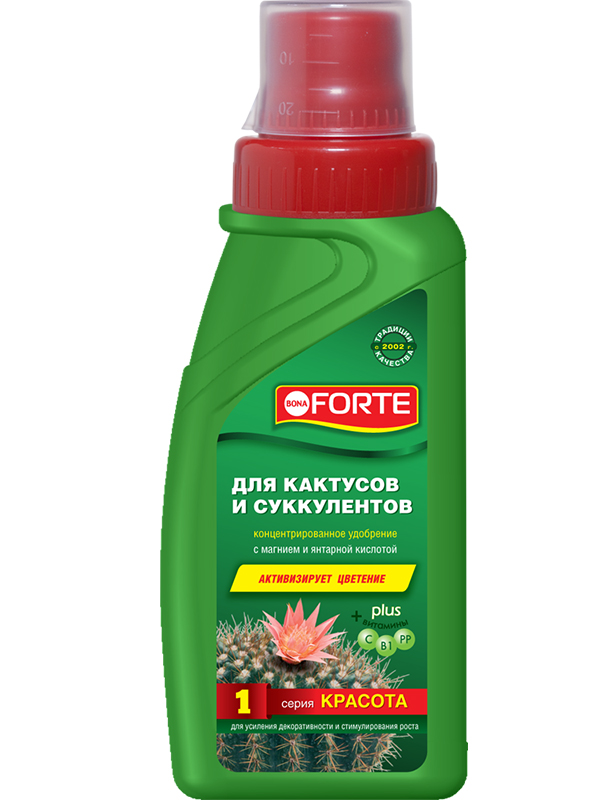 Жидкое удобрение Bona Forte Красота для кактусов 285ml BF21010201