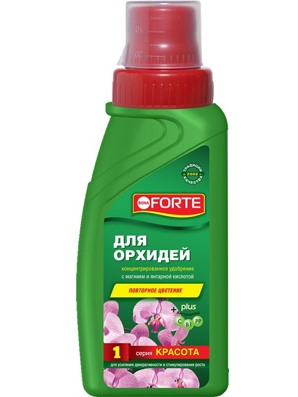 Фото - Жидкое удобрение Bona Forte Красота для орхидей 285ml BF21010211 субстрат bona forte для орхидей 1l bf29010191