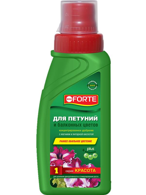 Жидкое удобрение Bona Forte Красота для петуний и балконных цветов 285ml BF21010291 удобрение bona forte ягодное 2 5 кг