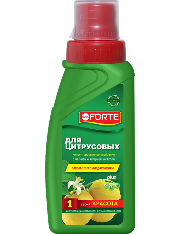 Жидкое удобрение Bona Forte Красота для цитрусовых растений 285ml BF21010241