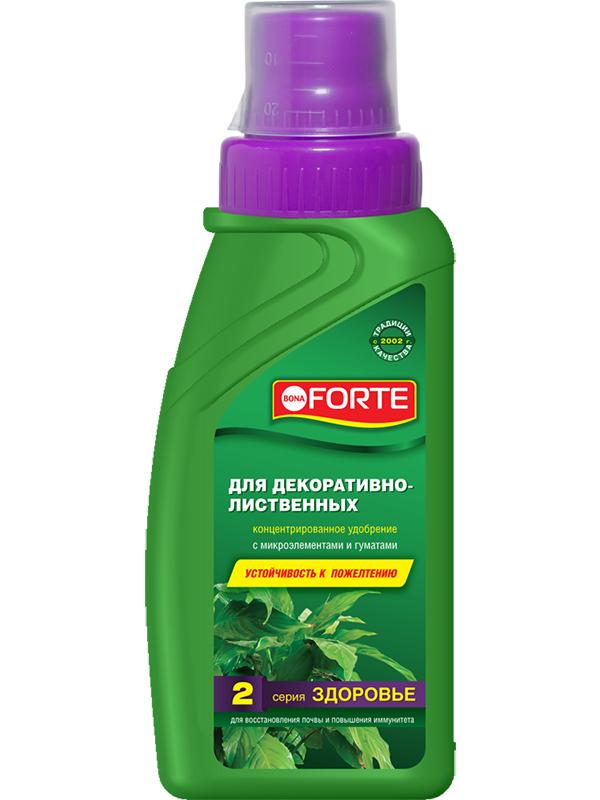 Жидкое удобрение Bona Forte Здоровье для декоративно-лиственных растений 285ml BF21060101