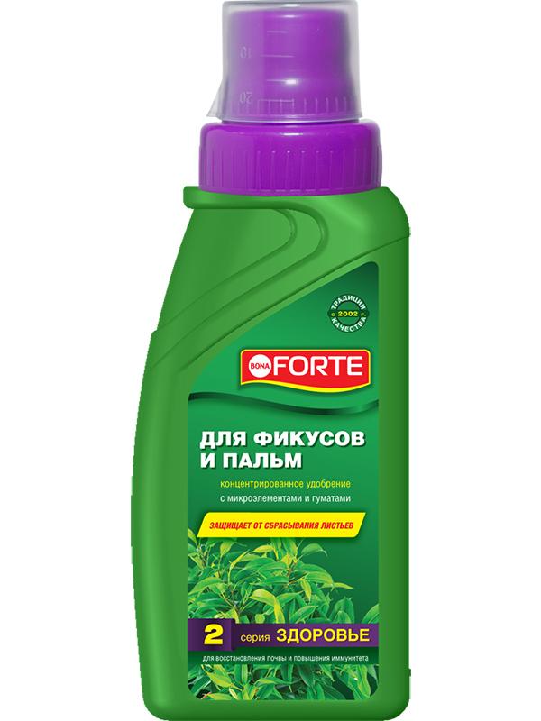 Жидкое удобрение Bona Forte Здоровье для фикусов и пальм 285ml BF21060131 удобрение для фикусов и пальм красота 0 285 л bona forte