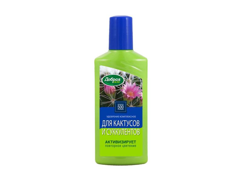 Жидкое удобрение Добрая сила для кактусов и суккулентов 250ml DS21010191