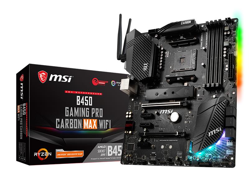 Материнская плата MSI B450 Gaming Pro Carbon Max WiFi