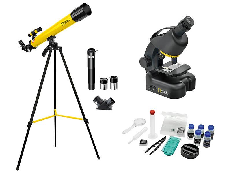 Набор Bresser National Geographic 50/600 + Микроскоп 640x с держателем для смартфона
