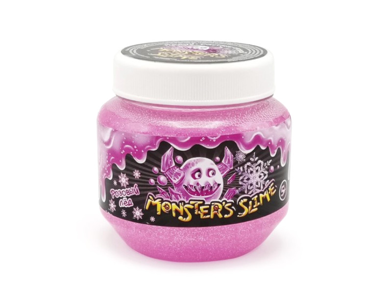 Слайм KiKi Monsters Slime Розовый лед 250ml SCB003