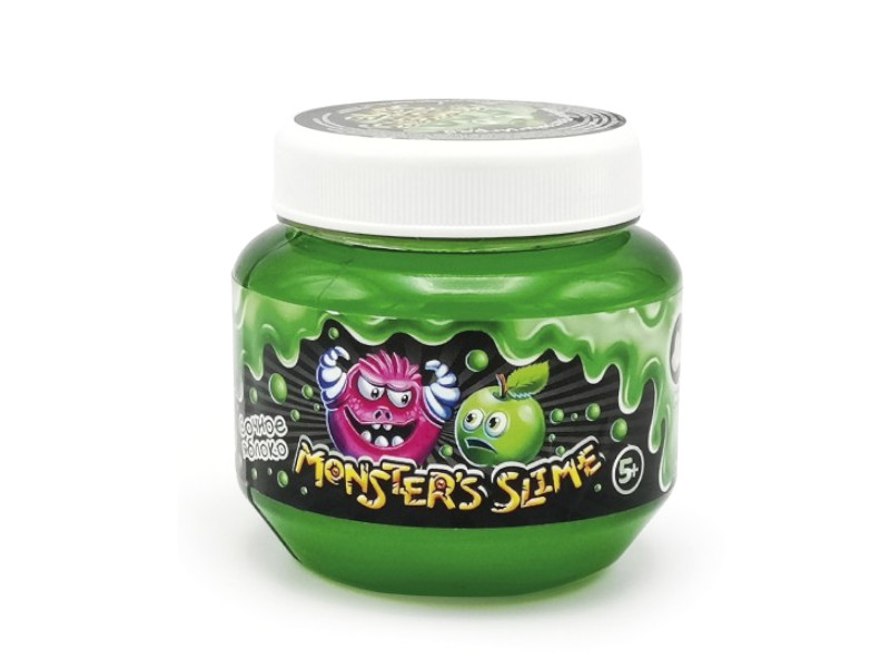 Слайм KiKi Monsters Slime Сочное яблоко 250ml SCB001