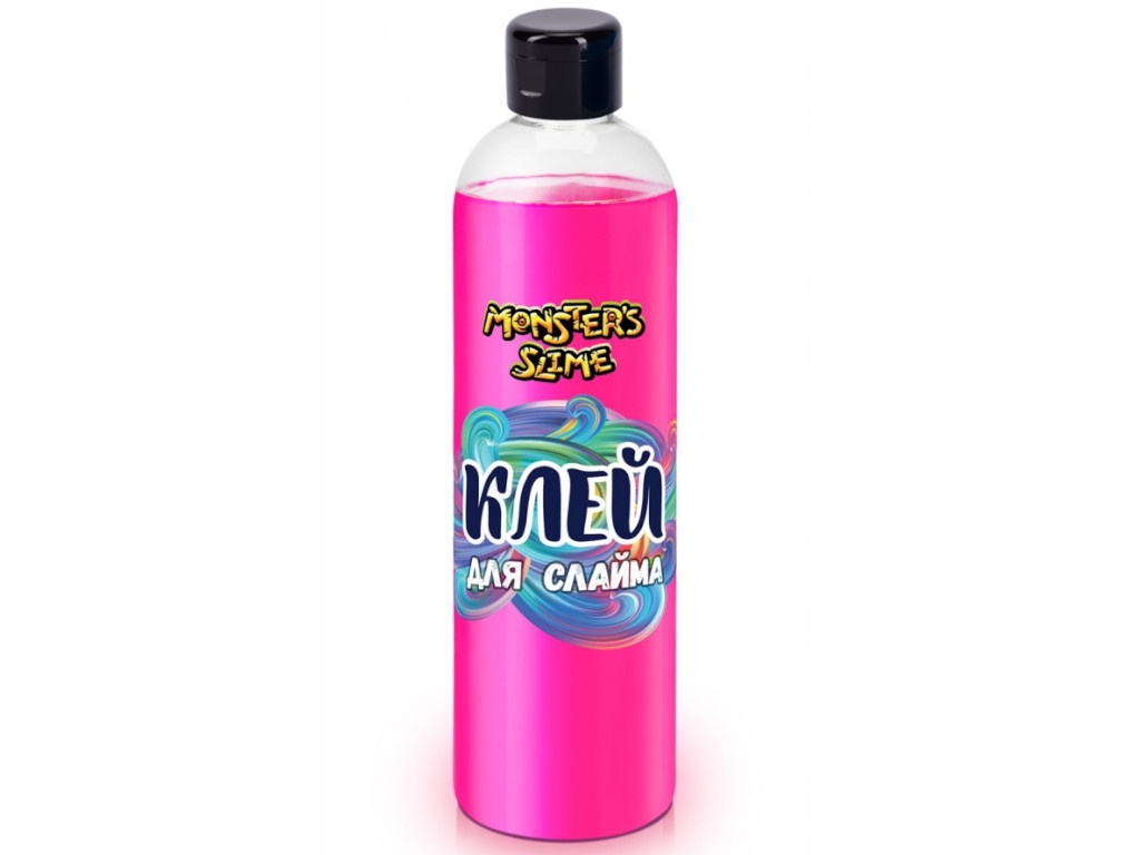 Слайм KiKi Monsters Slime Клей для слаймов 500ml Neon Pink KL023
