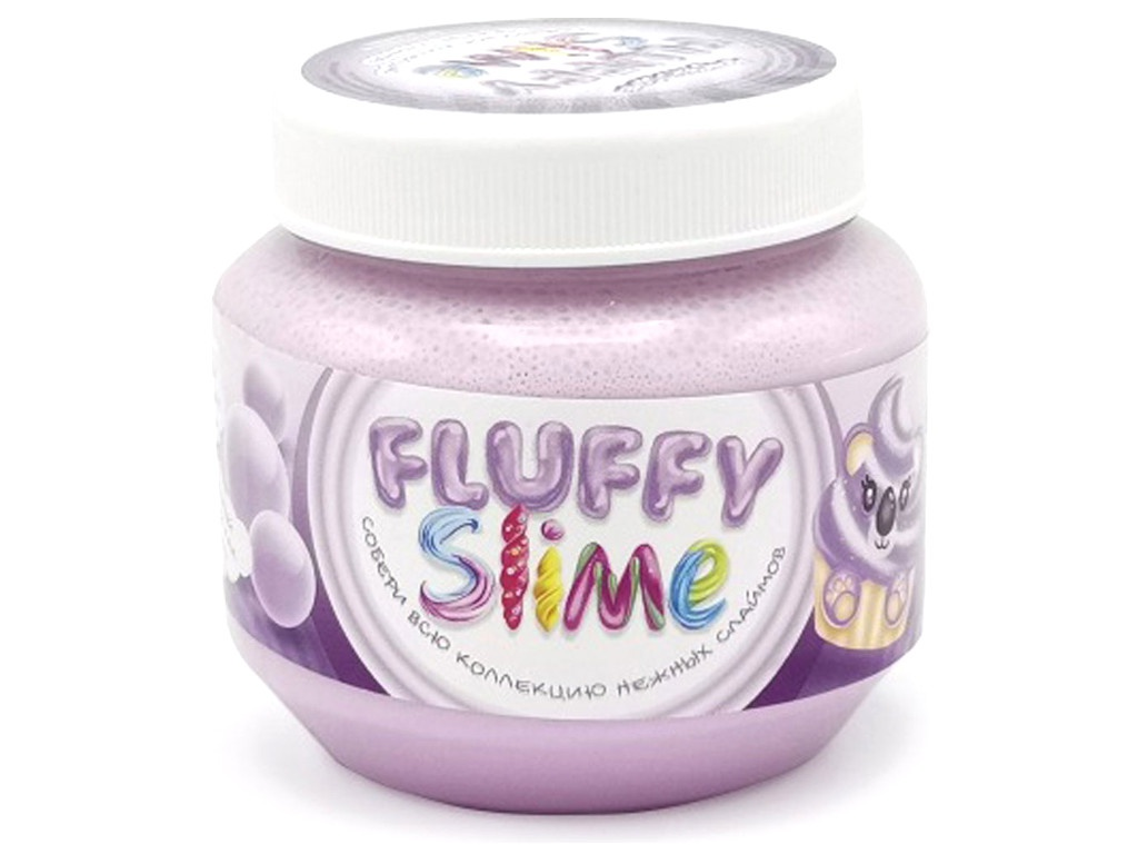 Слайм KiKi Monsters Slime Fluffy Бабл-гам 250ml FLB004