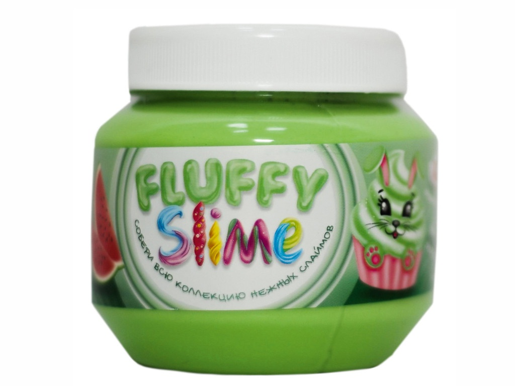 Слайм KiKi Monsters Slime Fluffy Арбуз 250ml FLB003