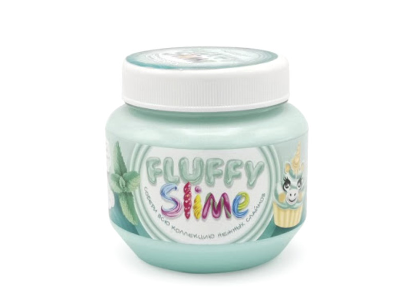 Слайм KiKi Monsters Slime Fluffy Мята 250ml FLB002