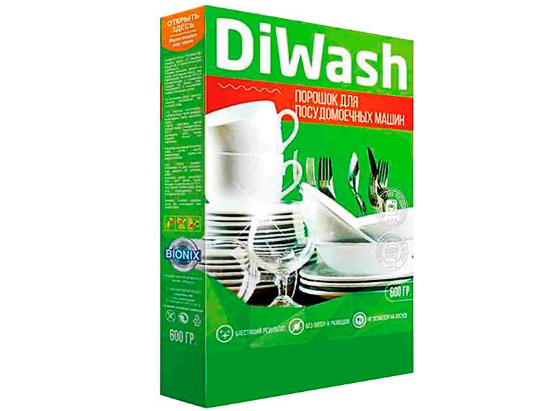 Порошок для мытья посуды в посудомоечных машинах DiWash 600g