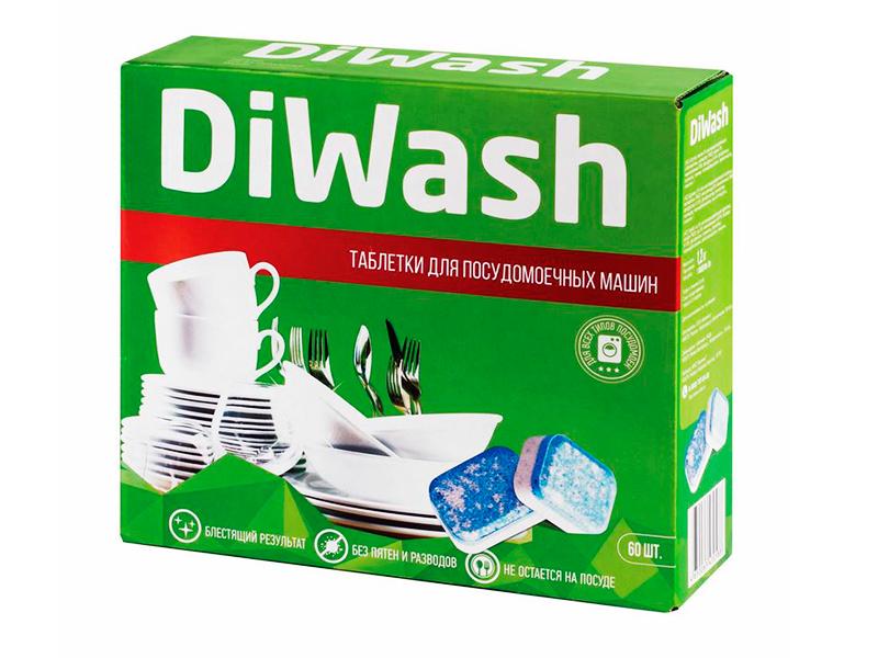 Таблетки для посудомоечных машин DiWash 60шт