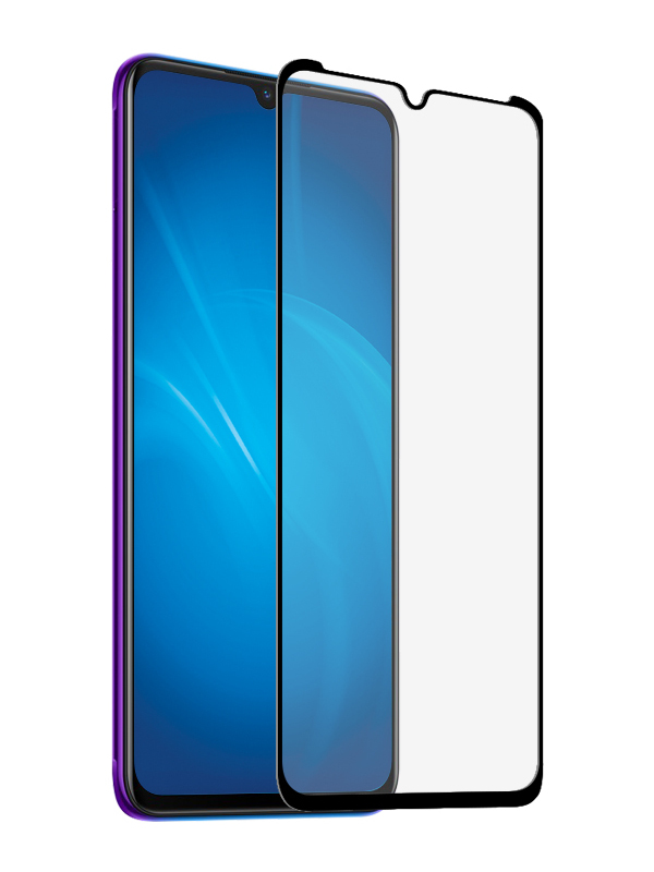 Защитный экран Red Line для Vivo Y20 Full Screen Tempered Glass Glue Black