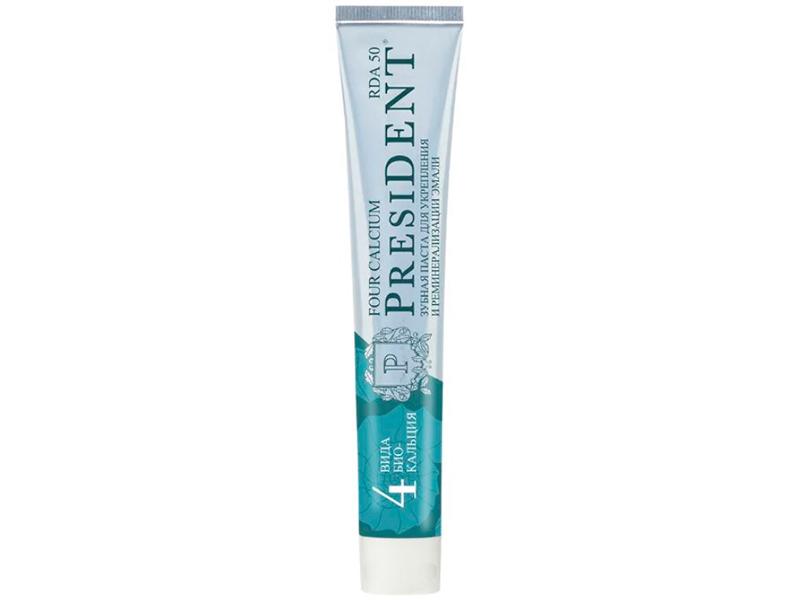 Зубная паста President Four Calcium 75g 110574