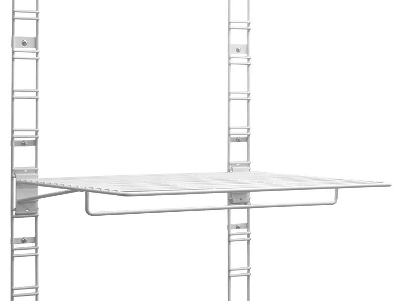 Полка с планкой для плечиков ESSE 400x498mm White SWH01-03 вешалка esse hg2 03