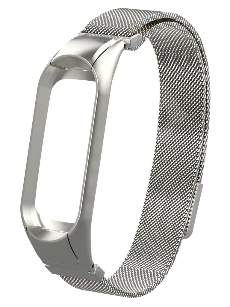 Aксессуар Ремешок Activ для Xiaomi Mi Band 5 Metal Mesh Strap Silver 117560