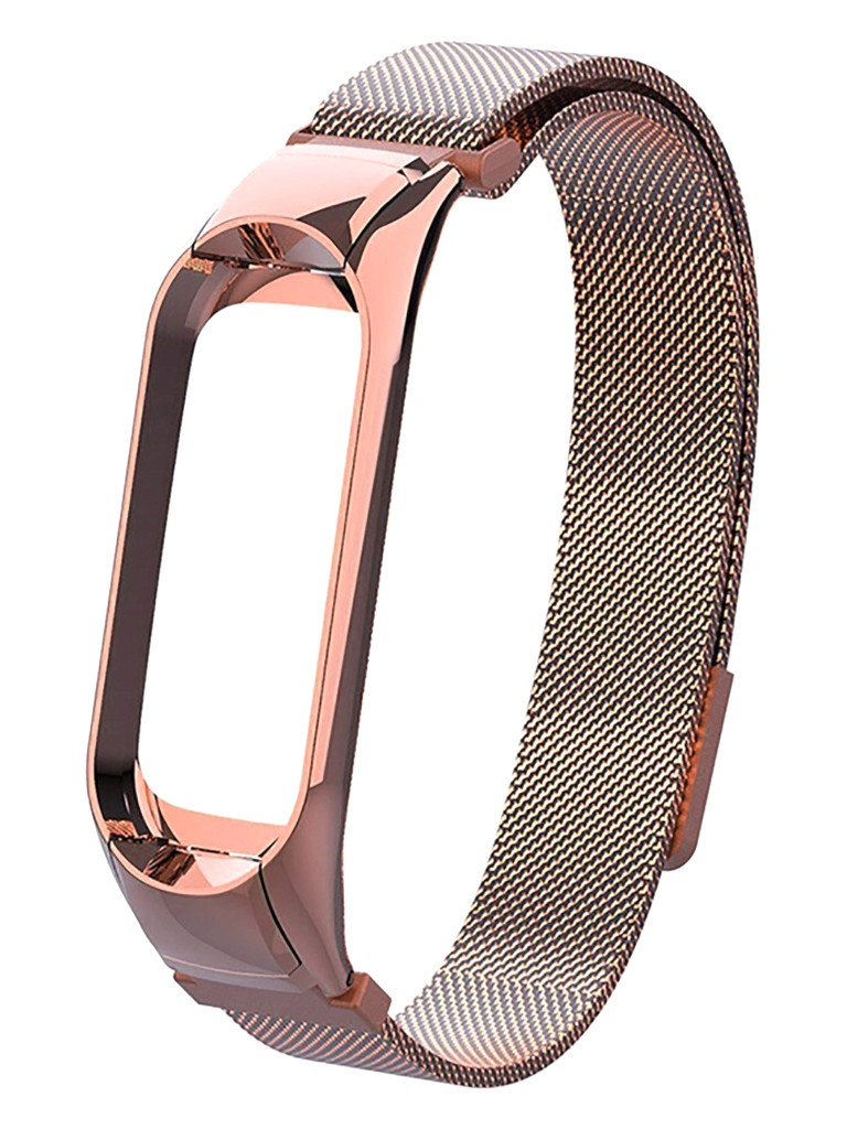 Aксессуар Ремешок Activ для Xiaomi Mi Band 5 Metal Mesh Strap Rose Gold 117559