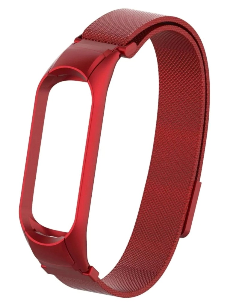 Aксессуар Ремешок Activ для Xiaomi Mi Band 5 Metal Mesh Strap Red 117558