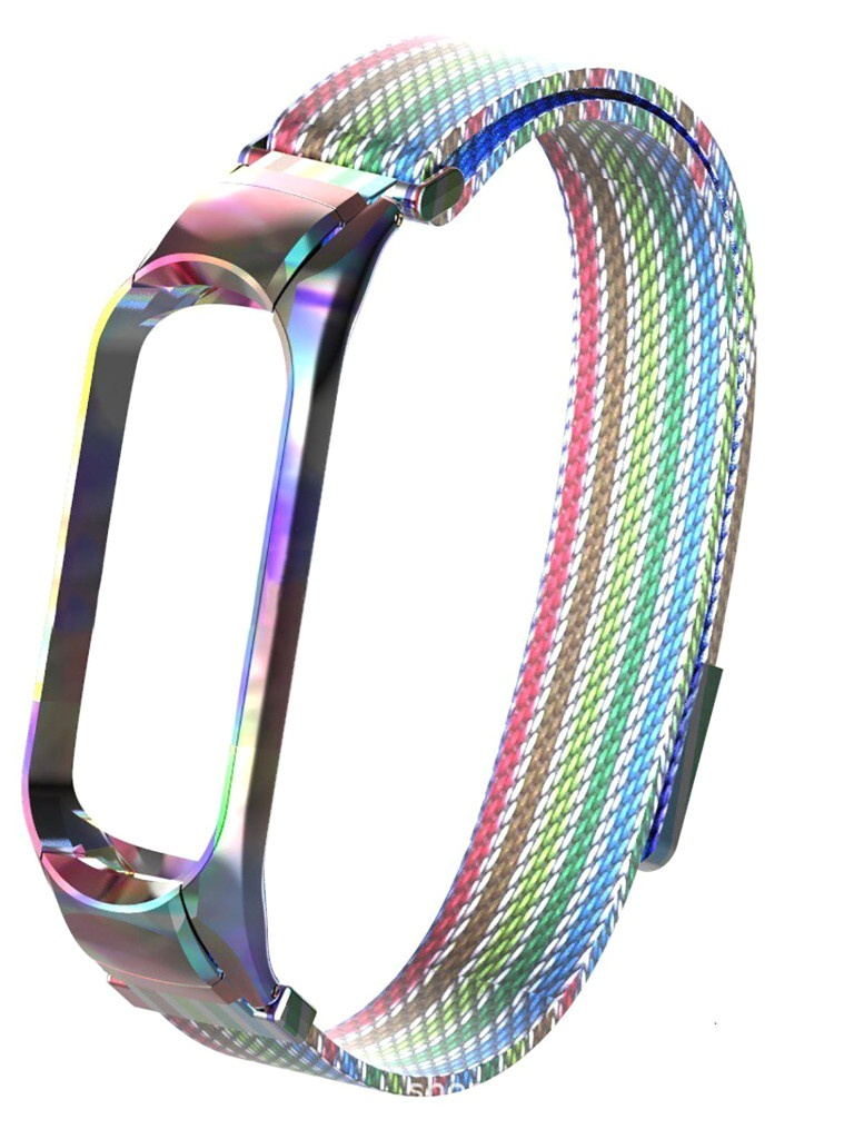 Aксессуар Ремешок Activ для Xiaomi Mi Band 5 Metal Mesh Strap Rainbow 117557